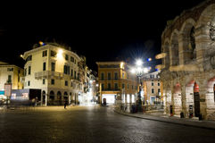 Verona at night Royalty Free Stock Image