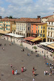 Piazza Bra from the top of the Arena Verona Italy Stock Photos