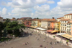 Piazza Bra from the top of the Arena Verona Italy Royalty Free Stock Photography
