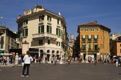 Piazza Bra in Verona. The famous square in Verona city stock image