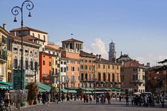 Piazza Bra in Verona Stock Photography