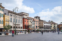 Piazza Bra in Verona Royalty Free Stock Photography