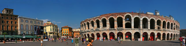 Piazza Bra, Verona, Italy Royalty Free Stock Images