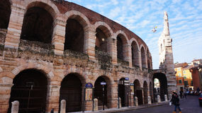 Piazza Bra in Verona, Italy Royalty Free Stock Image