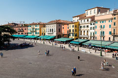 Piazza Bra in Verona Viewed from Above Stock Image