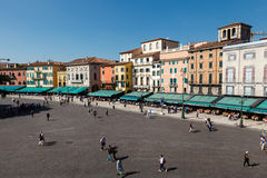 Piazza Bra in Verona Viewed from Amphitheater Royalty Free Stock Photos