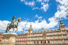 Piazza-Bürgermeister Madrid Stockfotos