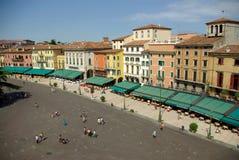 Piazza Bustehouder, Verona, Italië Royalty-vrije Stock Fotografie