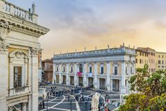 Piazza Campidoglio, Rome, Italie Photographie stock libre de droits