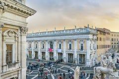 Piazza Campidoglio, Rome, Italie Images libres de droits