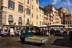 Piazza Campo Di Fiori, Rome, Italië Royalty-vrije Stock Afbeelding