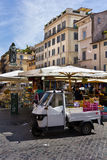 Piazza Campo Di Fiori, Rome, Italië Stock Fotografie