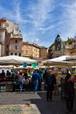 Piazza Campo di Fiori, Rome, Italy Royalty Free Stock Images