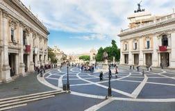 Piazza Capitoline i Rome Arkivbilder