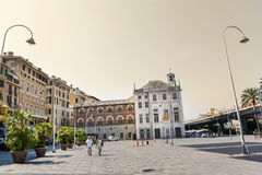Piazza Caricamento  square in Genoa Italy Royalty Free Stock Image