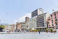Piazza Caricamento  square in Genoa Italy Stock Images