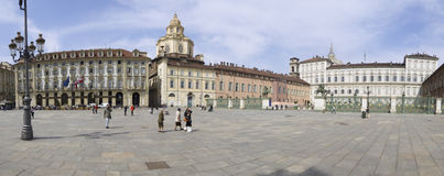 Piazza Castello Stock Photos