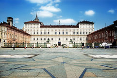 Piazza Castello. View of the Piazza Castello in Turin Italy Royalty Free Stock Photography