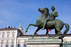 Piazza Castello i Turin Royaltyfria Bilder