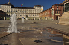 Piazza Castello and royal palace, Torino, Italy Stock Images