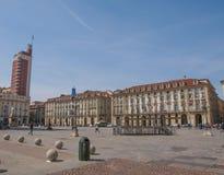 Piazza Castello Turin Stock Photo