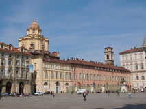 Piazza Castello Turin Stock Photography