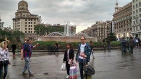 Piazza cataluña Stockfotografie