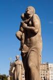 Piazza Catalunya-Statuen Lizenzfreies Stockbild