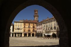 Piazza Cavour Stock Photography