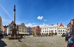 Piazza in Cesky Krumlov fotografie stock libere da diritti