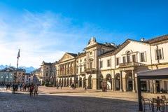 Piazza Chanoux dans Aosta, Italie Images stock