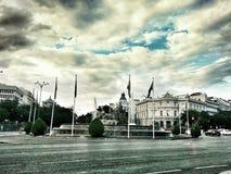 Piazza Cibeles Madrid Spanien Lizenzfreie Stockfotos