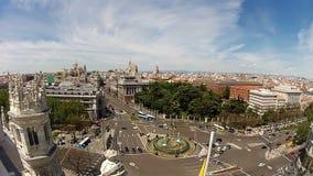 Piazza Cibeles. Timelapse