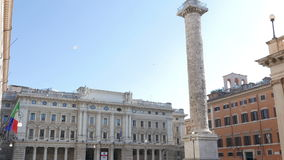 Piazza Colonna, Roma, Italia - 18 febbraio 2015: video d archivio
