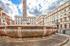 Piazza Colonna Rome Royalty Free Stock Photos