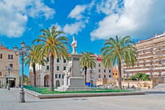 Piazza d'italia on a sunny day Royalty Free Stock Photography