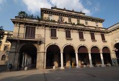 Piazza Dante a Bergamo fotografia stock