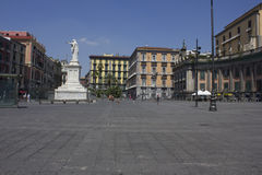 Piazza Dante public square, Naples Royalty Free Stock Images