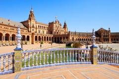 Piazza de Espana Sevilla, Andalusien, Spanien, Europa Lizenzfreies Stockfoto