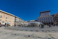 Piazza de Ferrari en Génova Fotografía de archivo