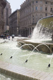 Piazza de Ferrari, Génova foto de archivo