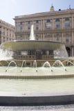 Piazza de Ferrari, Génova imagenes de archivo