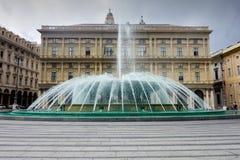 Piazza de Ferrari Génova Fotos de archivo