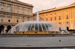 Piazza de Ferrari, Genoa Royalty Free Stock Photography