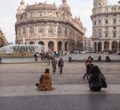 Piazza de Ferrari in Genoa Royalty Free Stock Images