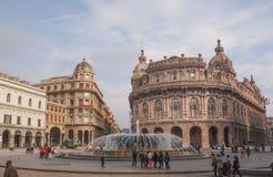Piazza de Ferrari in Genoa Stock Photos