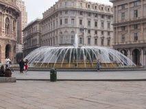 Piazza de Ferrari in Genoa Stock Image