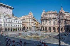 Piazza de Ferrari a Genova fotografia stock libera da diritti