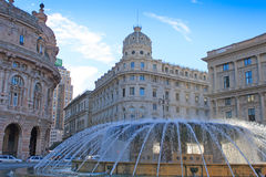 Piazza de Ferrari a Genova Immagine Stock Libera da Diritti