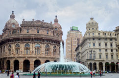 Piazza de Ferrari Genova Royalty Free Stock Photography